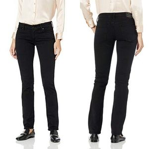 Lucky Brand Sweet Straight Mid Rise Black Jeans